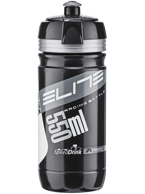 Elite Corsa Trinkflasche 550ml schwarz/silber